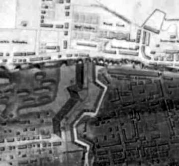 Détail d'un plan de 1791 montant le Palais