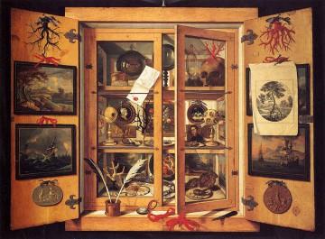 Cabinet of Curiosities, 1690 par Domenico Remps