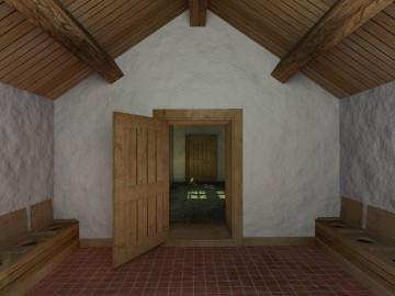 Reconstitution 3D du galetas des latrines ouest